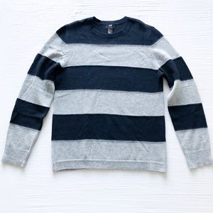 H&M Striped Wool Blend Sweater